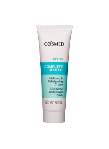 Cosmed COSMED Complete Benefit Matifying and Rebalancing Cream SPF15 50 ml Renksiz
